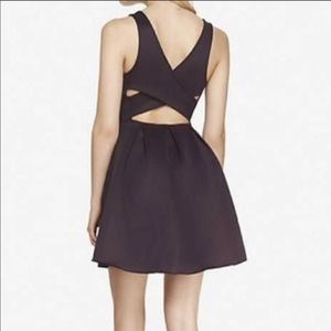 Express Crisscrossed Back Purple Cocktail Dress 12